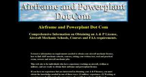 Airframe and powerplant certification information